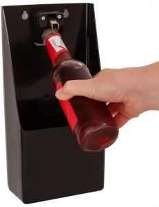 Beer Bottle Opener with Catcher Bin for Pubs and Bars